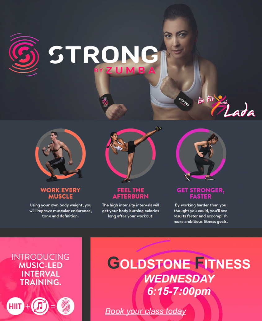 NEW CLASS - Strong by Zumba - Now FREE for Goldstone Members!